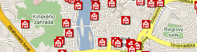 Prague Hotels Map